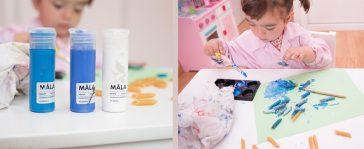 Manualidades con niños: collar de macarrones