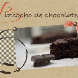 Receta de bizcocho de chocolate sin huevo