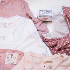 Sellos personalizados para marcar ropa