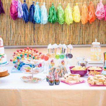 Cumpleaños temático: arcoiris