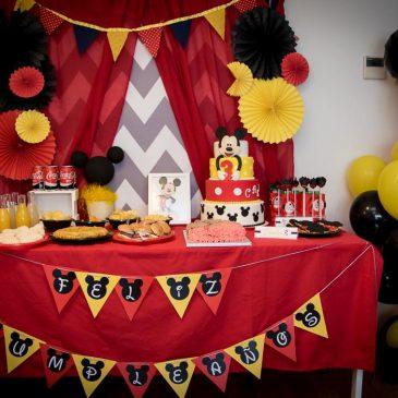 Decoración para cumpleaños infantiles: cumpleaños de Mickey