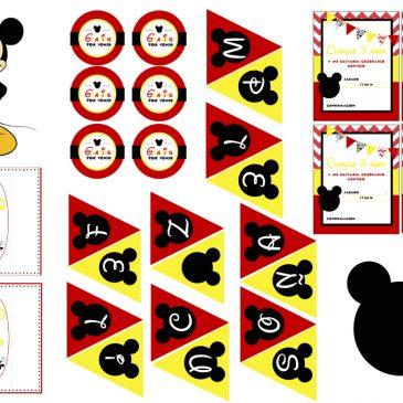 Imprimibles gratuitos de Mickey Mouse