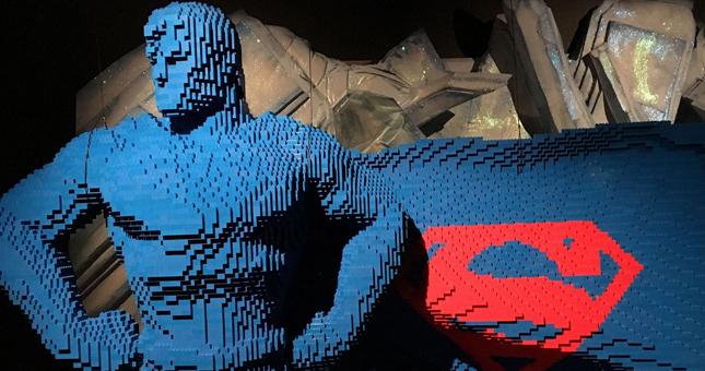 The Art of the Brick: superheroes construidos con Lego