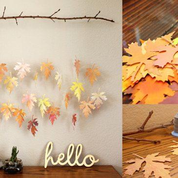 Manualidades de otoño con hojas