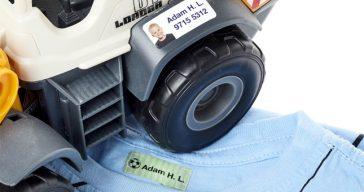 Marca la ropa de tus hijos gracias a los stickers y cintas personalizadas