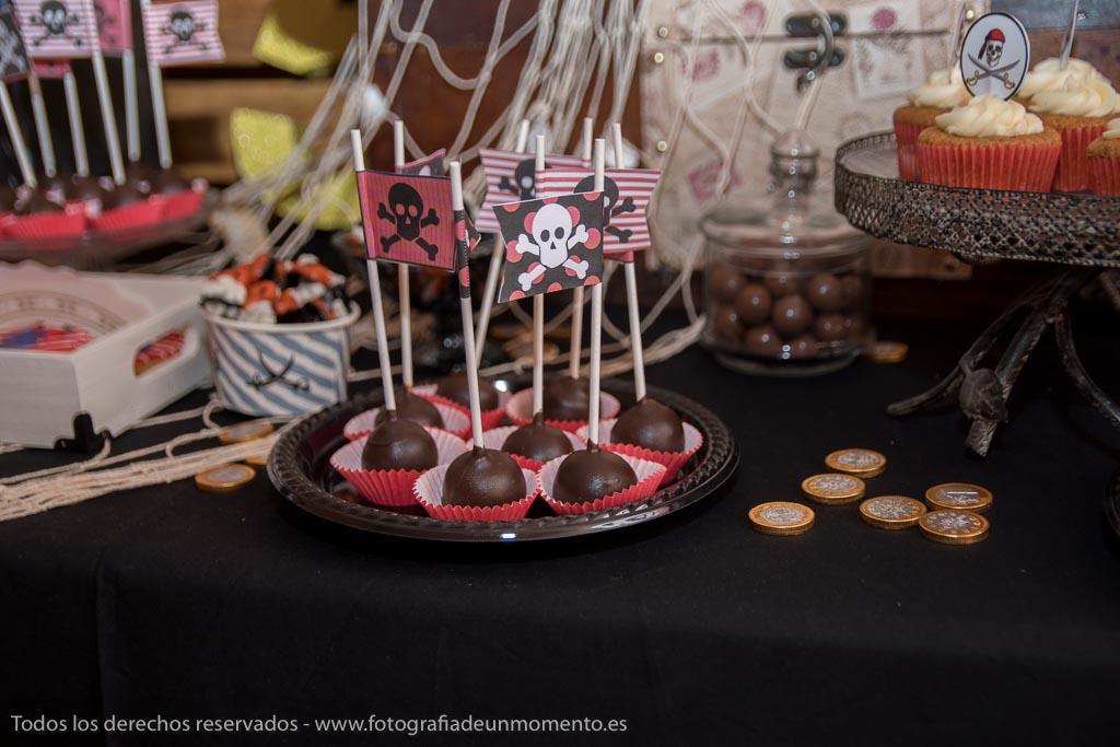monedas de chocolate y cakepop