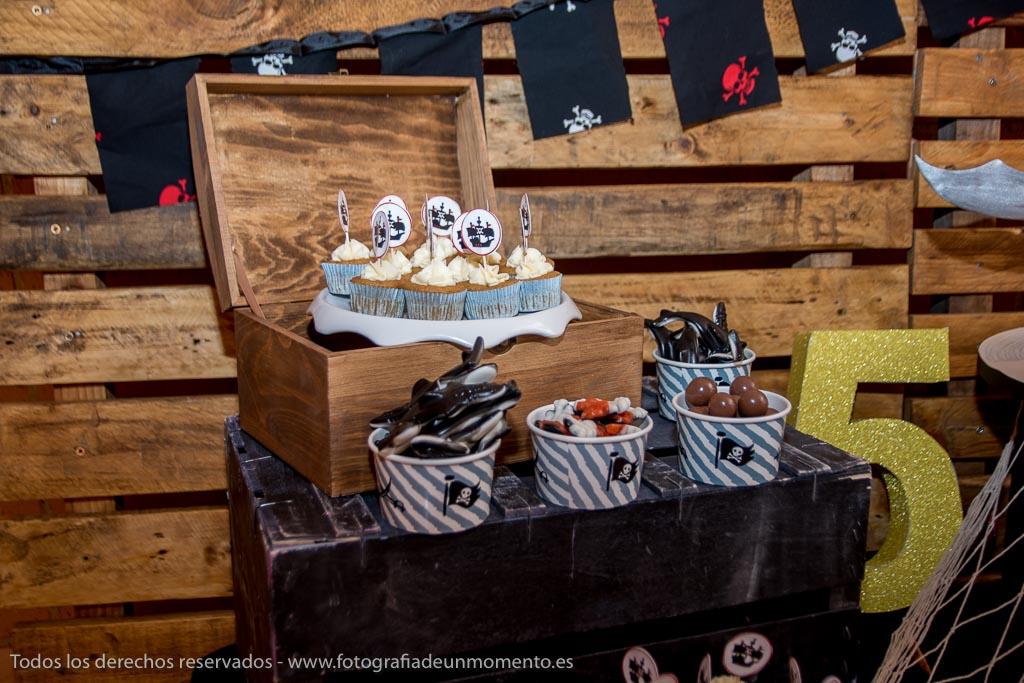 detalles de dulces para la fiesta pirata
