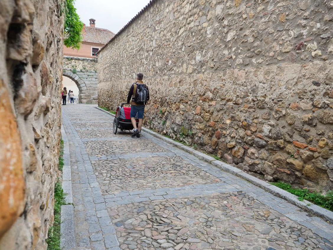 Calles empedradas en Segovia