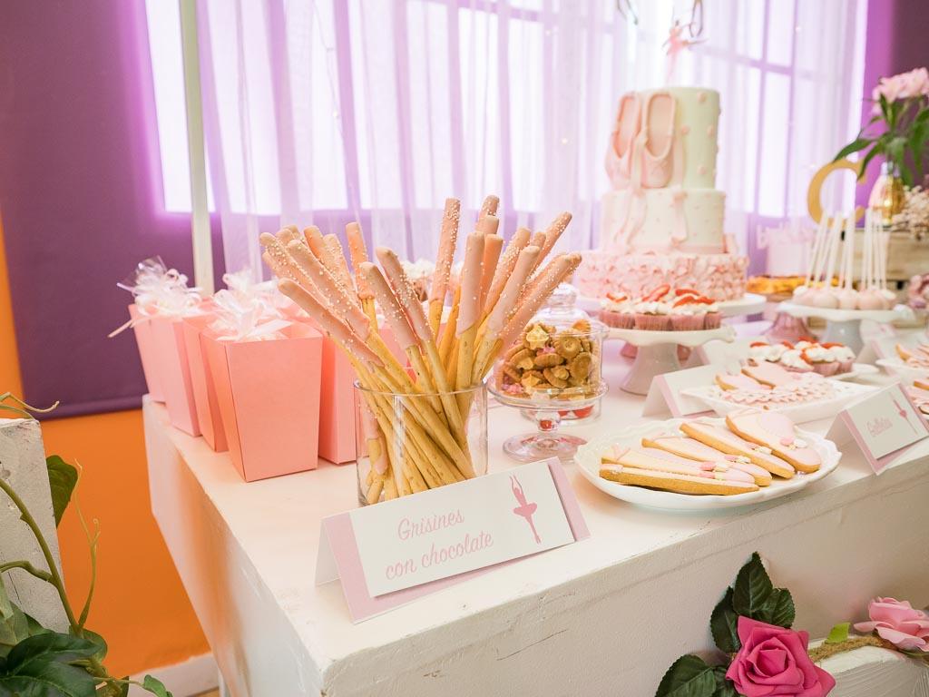 mesa dulce cumpleaños ballet